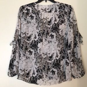 Cato Black and White Long Sleeve Top - Size XL